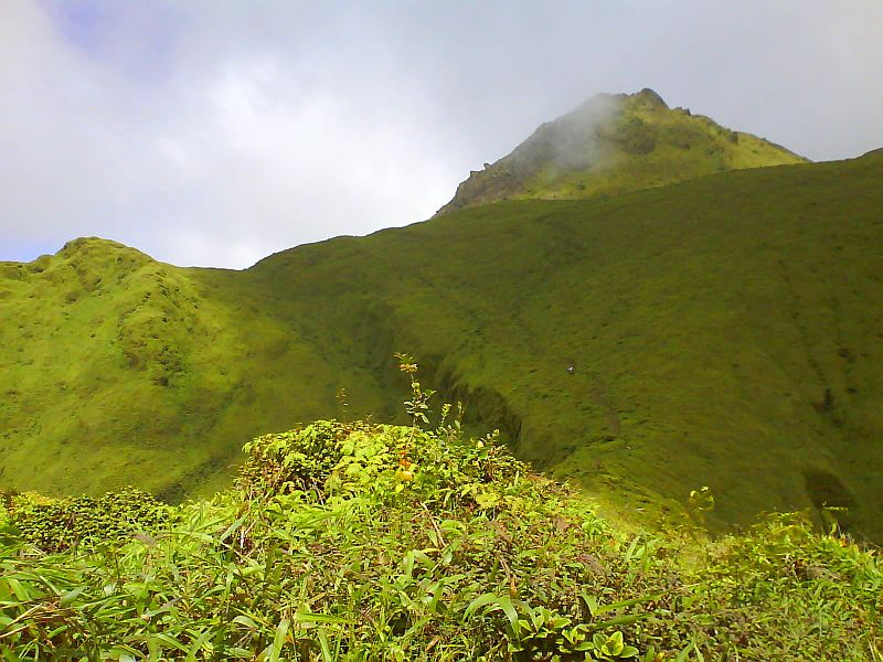 La montagne Pelée, le volcan toujours actif de la Martinique